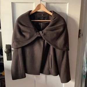 Wool and silk coat